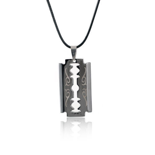 Men's Razor Blade Neck Chain