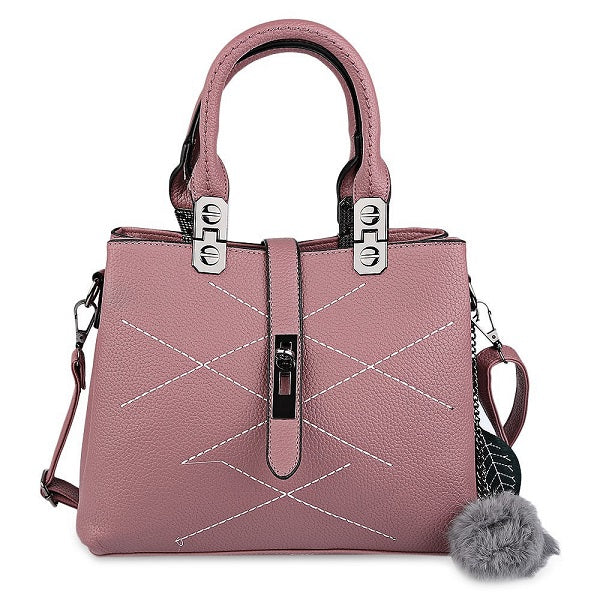Ladies Sequined Handbag - Pink