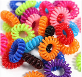 Telephone Cord Hair Elastics