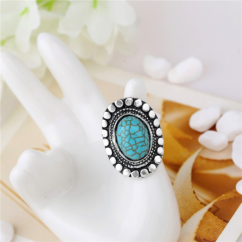 Tibetan Antique Oval Ring