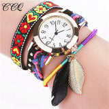 Ladies Leaf Pendant Bracelet Watch