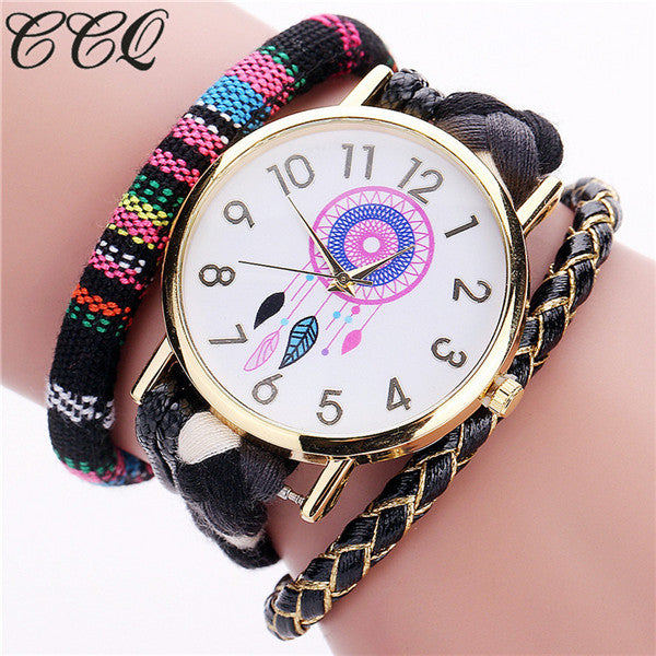 Ladies Handmade Braided Dream Catcher Watch