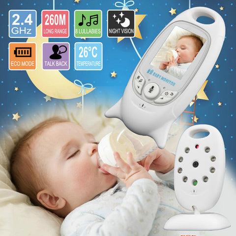 "Baby Monitor Wireless Two-way Speaker Video 2"" LCD 2.4GHz"