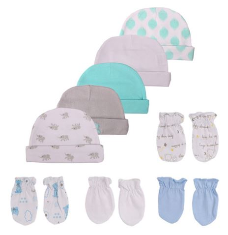 Babies 9pc Beanie and Booty Set (0-3 months) - Blue