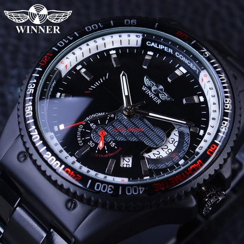 Automatic Skeleton Mechanical Watches - Racing deisgn