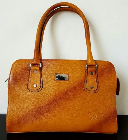 100% Genuine Buffalo Leather Everyday Handbag - 3 Colours