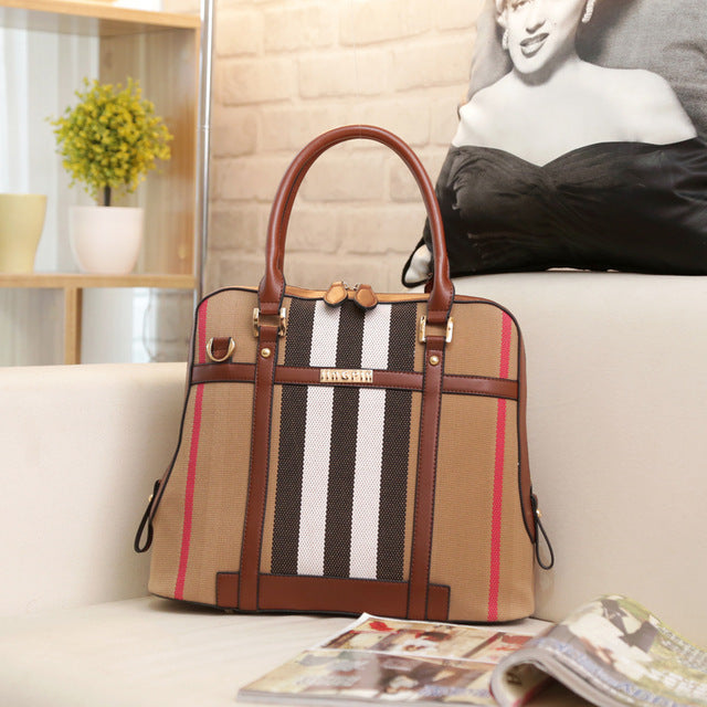 Ladies Cross Body Handbag - Brown
