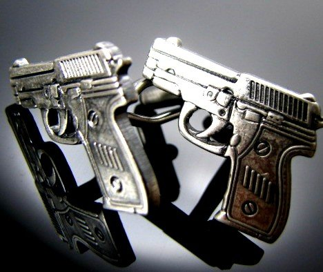 Guns and Robbers Cuff Links