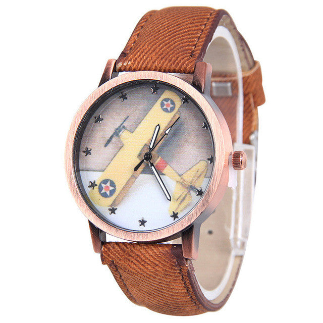 Ladies Vintage Watch - Plane
