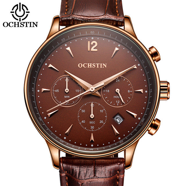 Men's Chronograph Watch - Ochstin (Coffee)