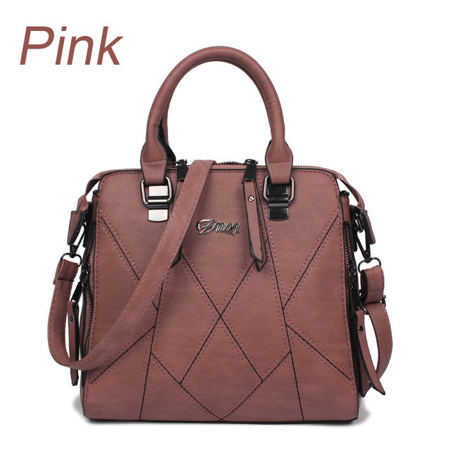 Ladies Cross Body Handbag - Pink