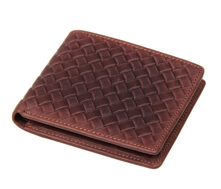 Genuine Leather Men's Weave Wallets
