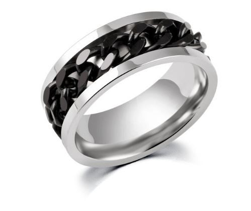 Men's Stainless Steel Chain Rings