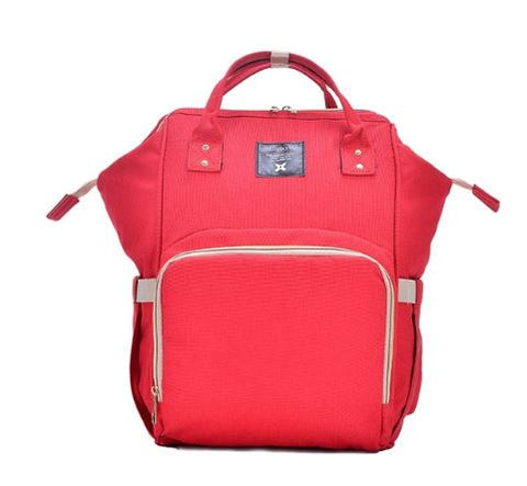 Baby Diaper Waterproof Travel Nappy Bag - Red