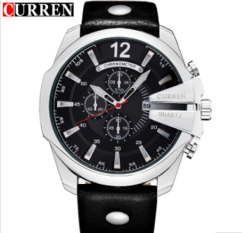 Men's Business Casual Curren Watches - Silver Black