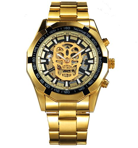 Automatic Skeleton Mechanical Watches - Gold Black