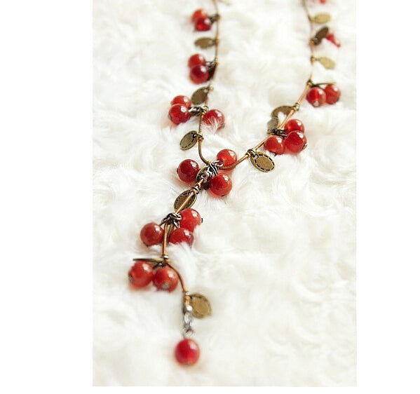Multi Layer Cherry Chain Necklace