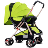4 Wheel Buggy Pushchair Baby Pram - Green