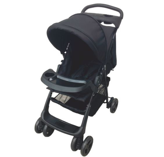 Foldable Stroller - Black/Grey