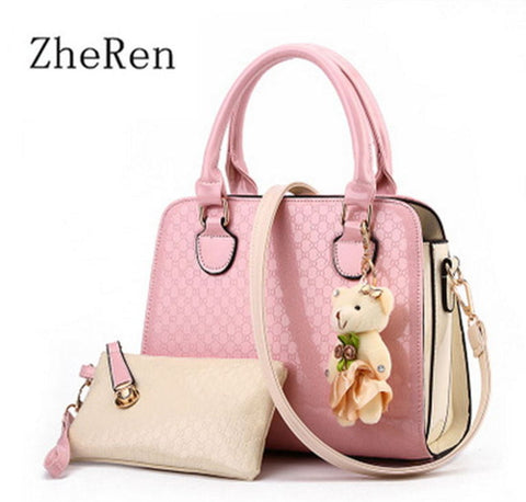 Ladies Handbag and Purse - Pink