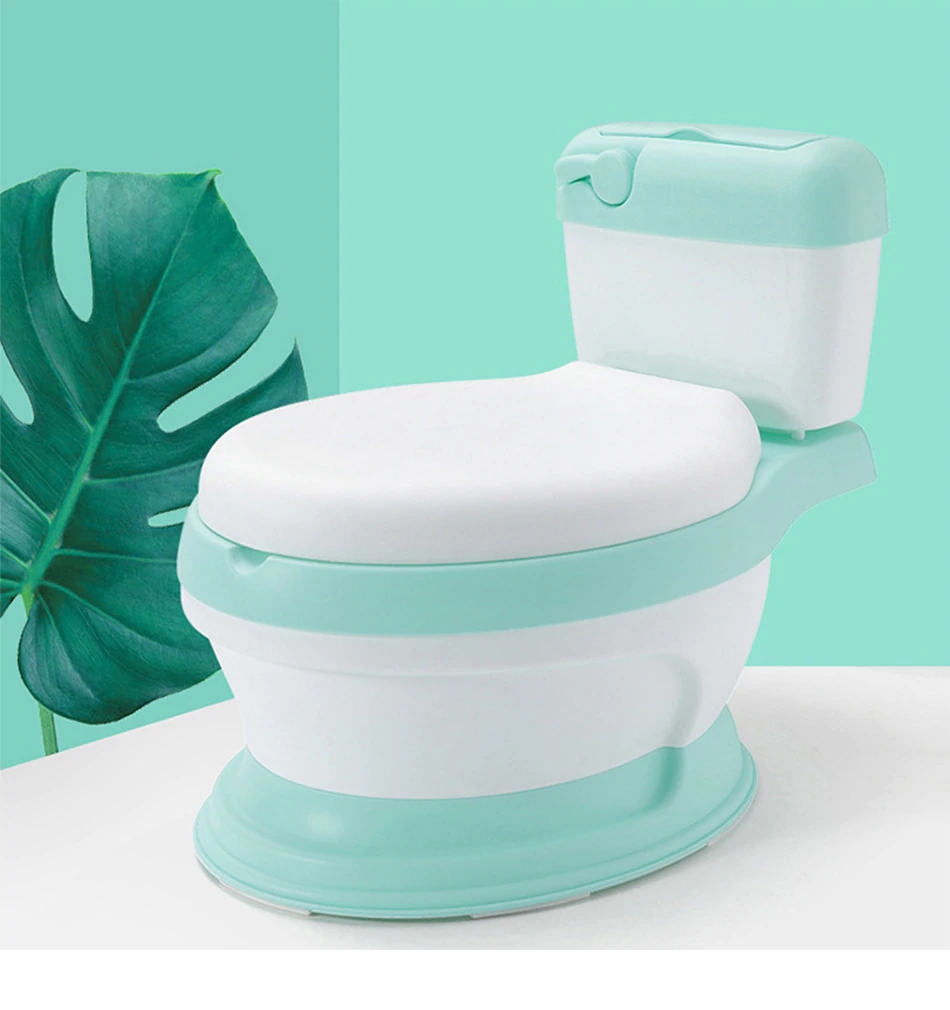 Children's Toilet Potty Trainer - Green