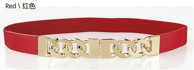 Ladies Link Belt - Red