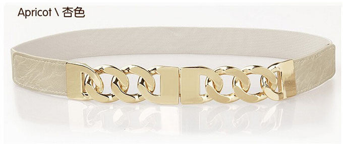 Ladies Link Belt - Apricot