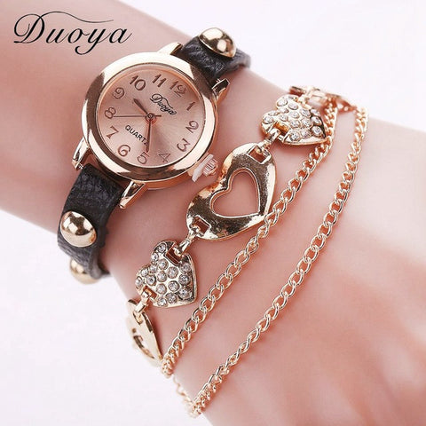 Ladies Heart Charm Watch - 6 colours