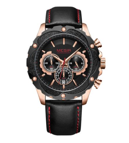 Men's Chronograph Watch - Black Rose Gold