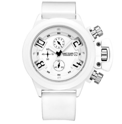 Men's Megir Chronograph Watch - White