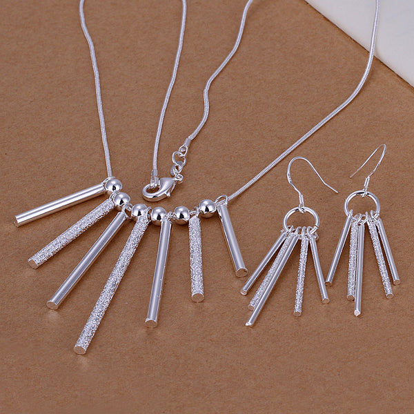 Cylinder Pendant Jewellery Set