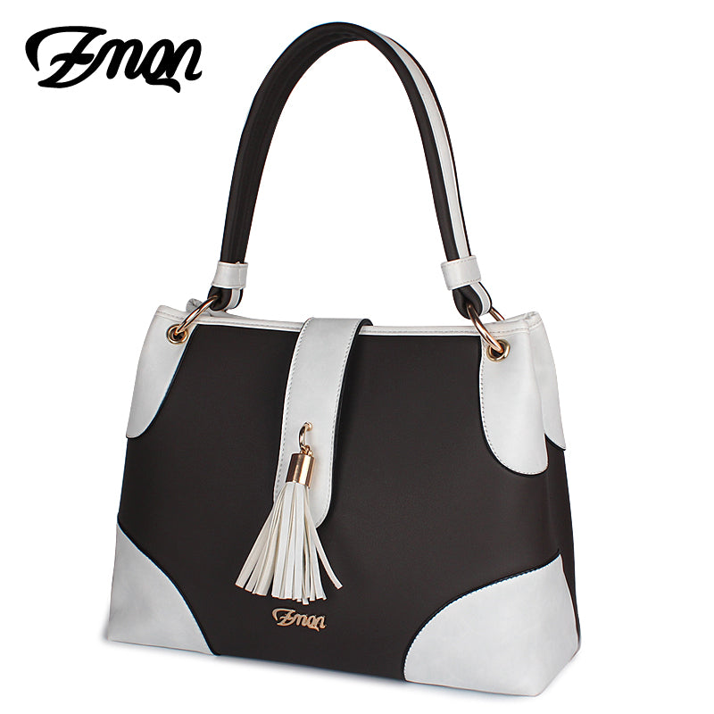 Ladies Cookies and Cream Handbag - Brown and White