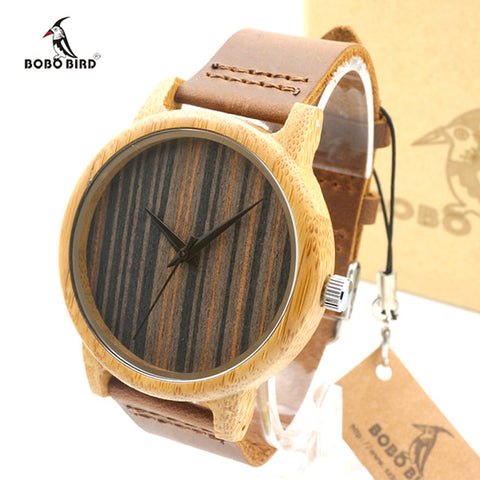 Men's Bamboo Handcrafted Watch - Brown