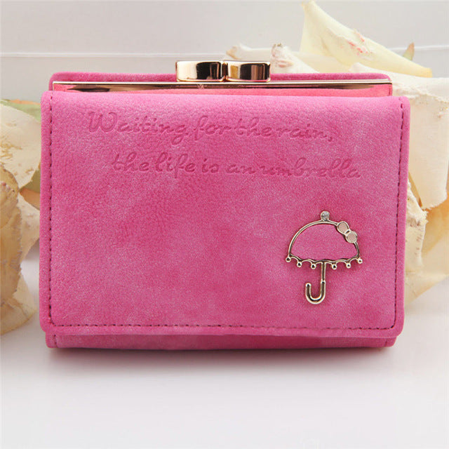 Ladies MultiFunctional Casual Wallets Purse - Pink