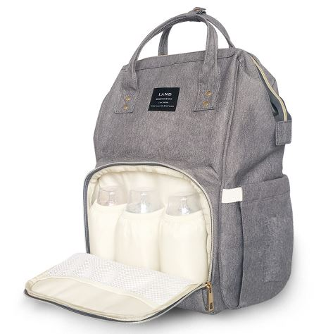 Baby Diaper Waterproof Travel Nappy Bag - Grey