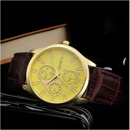 Men's WristWatch - Gold Brown