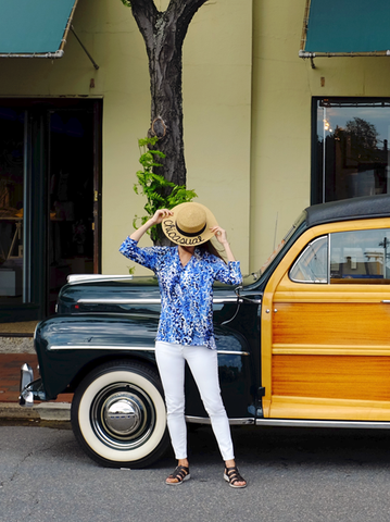 road trip to Annapolis in our soft blue watercolor top