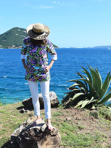 Our birds of paradise top traveled all the way to the British Virgin Island of Tortola.