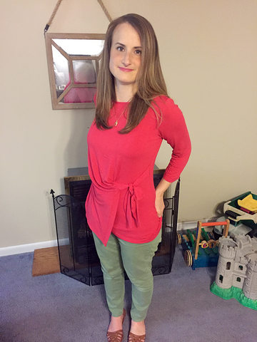Lydia is looking fab in her faux tunic top.