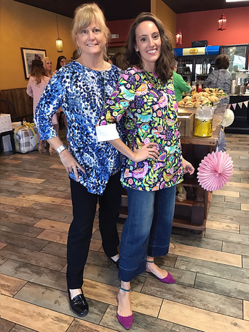 This mother daughter duo are looking chic in their CHICASUAL tunic tops.