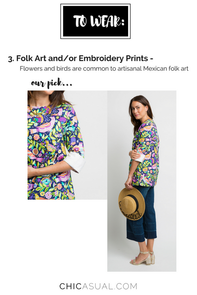 what to wear for cinco de mayo - featuring our bird printed tunic top