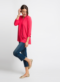 ULTRA SOFT KNIT TOP IN GERANIUM