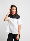 UPTOWN CHIC COLOR BLOCK TOP