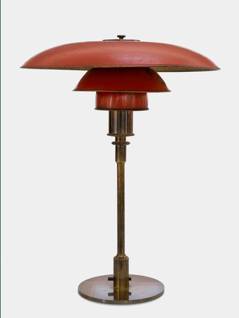 Poul Henningsen 4/3 Table Lamp Red painted copper