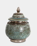 Lidded jar by A. Wolfsen