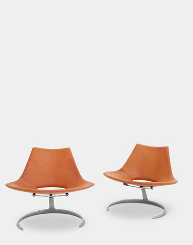 A pair of Scimitar Chairs by Preben Fabricius & Jørgen Kastholm