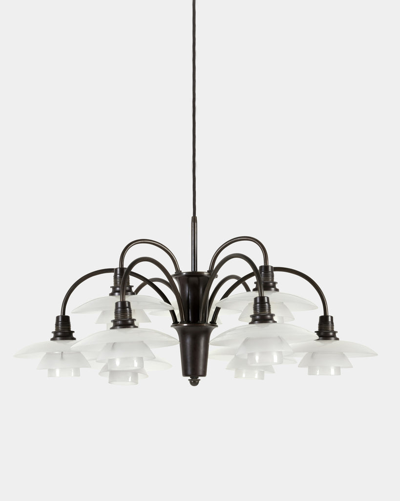 Nine-armed Cascade Chandelier by Poul Henningsen