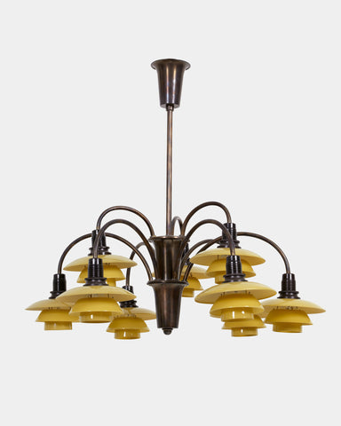 PH Nine-armed Cascade Chandelier 1/1