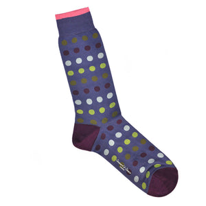Fine Cotton Dotty Colours Socks