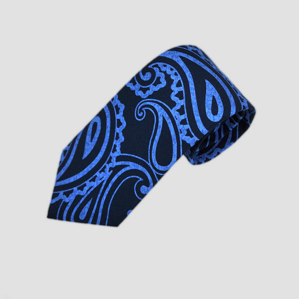 English Silk Paisley Tones Tie